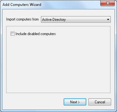 Import Computers from Active Directory