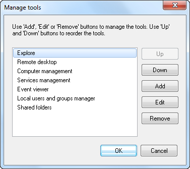 Manage Administrative tools