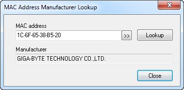 Change MAC Address screenshot